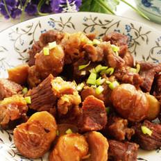 板栗牛肉的做法