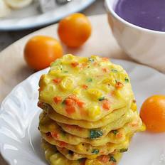 胡萝卜玉米小蛋饼