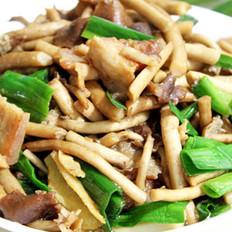 鲜茶树菇炒肉的做法