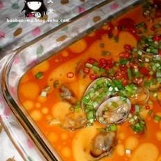 花蛤蒸水蛋的做法