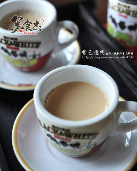 奶茶素材卡通黑白