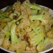 黄豆酱拌炒花菜