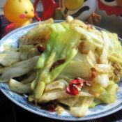 腊猪油渣圆白菜