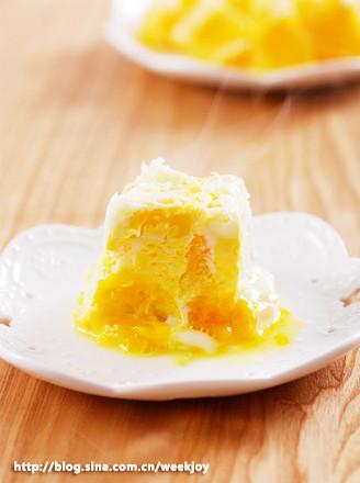 香橙香蕉蒸蛋的做法