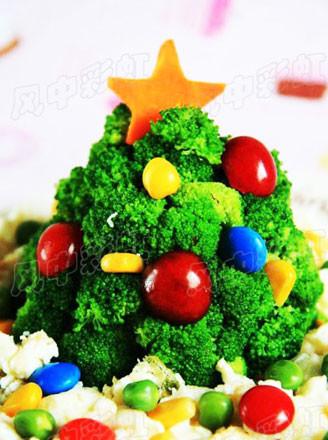 西兰花圣诞树的做法