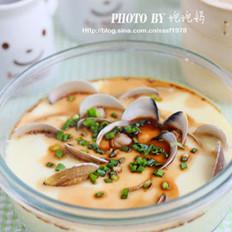 文蛤炖蛋的做法