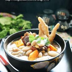 木瓜杂豆鸡肉煲的做法