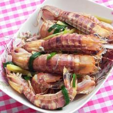 盐水濑尿虾的做法