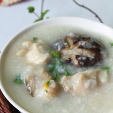 菜心香菇滑鸡粥的做法