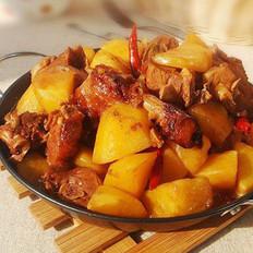 老鸭炖土豆的做法