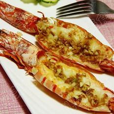 蒜蓉烤對蝦的做法