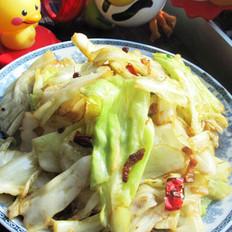 猪油手撕圆白菜的做法