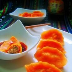 南瓜猪肉香菇水饺的做法
