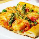 鲜虾芦笋披萨