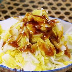 蒜蒸白菜的做法