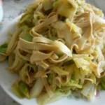 干豆腐炒白菜