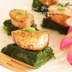 菠菜三文鱼寿司