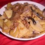 肉片滑炒榛蘑土豆片
