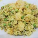 虾仁咖喱炒饭