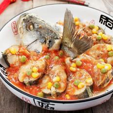 茄汁蒸鲈鱼