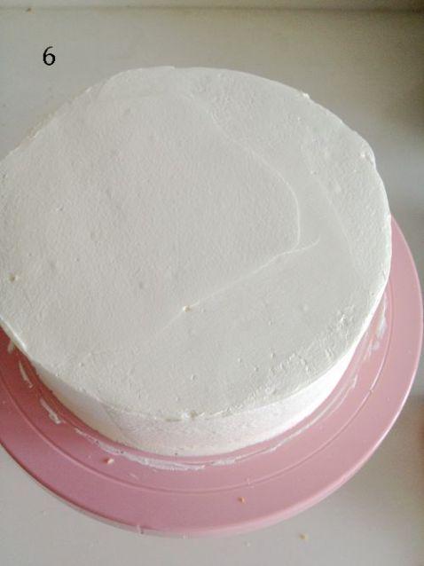 蛋糕上的花纹绘画图