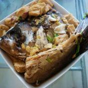 胖头鱼炖冻豆腐
