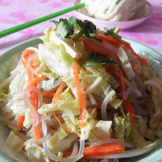 白菜豆芽拌粉的做法