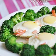圆蛋大虾的做法
