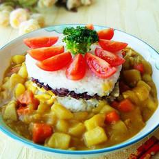 咖喱米饭蛋糕