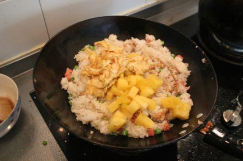 菠萝蛋炒饭的做法【步骤图】_菜谱_美食杰