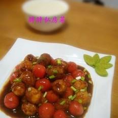 红烧圣女果鹌鹑蛋的做法