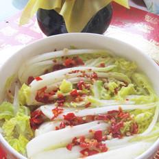 鸡汁剁椒粉丝娃娃菜的做法