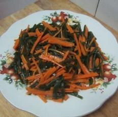 海带丝炒胡萝卜的做法