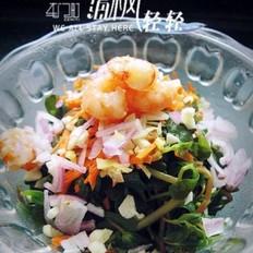虾仁炝拌蚂蚱菜