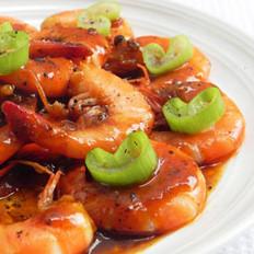 黑椒虾的做法