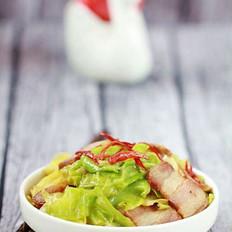 腊肉炒卷心菜的做法