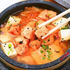 石锅三文鱼豆腐汤