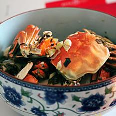 雪菜年糕炒螃蟹的做法