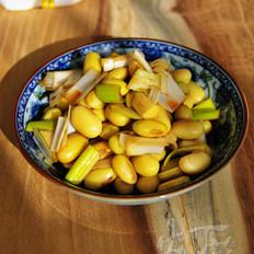 葱拌豆儿的做法