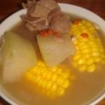 冬瓜玉米骨头汤的做法