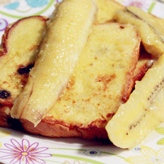 糖蜜香蕉吐司的做法
