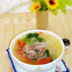 番茄牛肉粉丝汤的做法