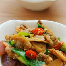 葱炒蛤肉的做法