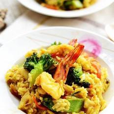 咖喱海鲜烩饭的做法