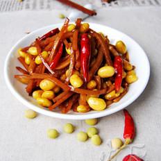 黄豆炒咸菜的做法