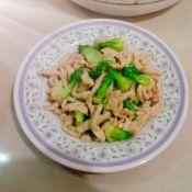 鸡柳肉炒油菜心