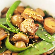 蚝汁口蘑荷兰豆