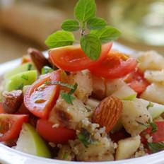 麦香鳕鱼杏仁沙拉的做法