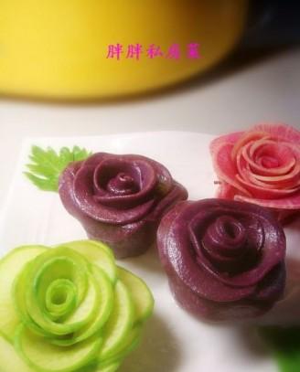 紫薯玫瑰花的做法【步骤图】_菜谱_美食杰