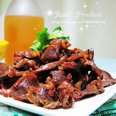 麻油豆豉爆鸡胗的做法